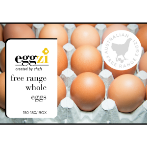 Free range whole eggs by Eggzi